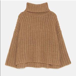 Zara Medium oversized knit chunky sweater